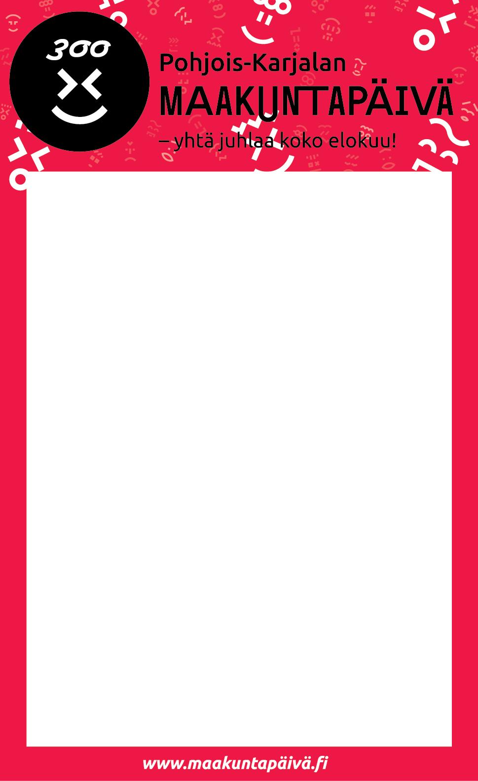 maakuntapäivän lehti-ilmoituspohja